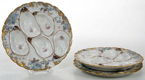 Set of 12 Haviland Limoges Oyster Plates