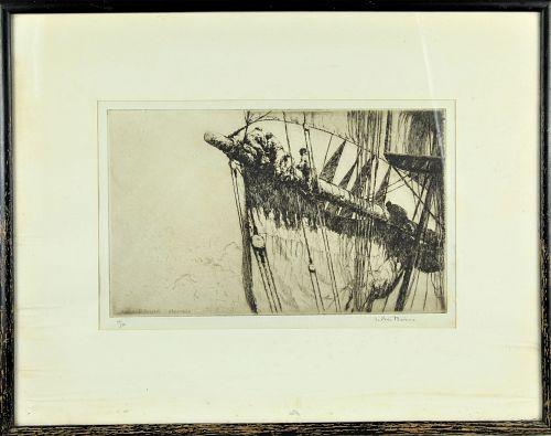 Arthur Briscoe (1873-1943) British Etching