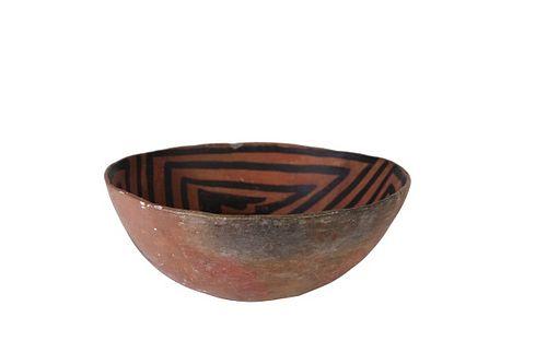 Native American & Southwestern Acoma Pottery Bowl
