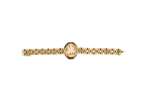 Three Graces Cameo Rose Gold Vintage Bracelet