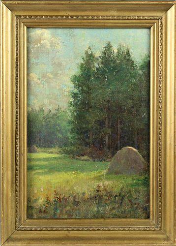 Signed American Landscape, Oil