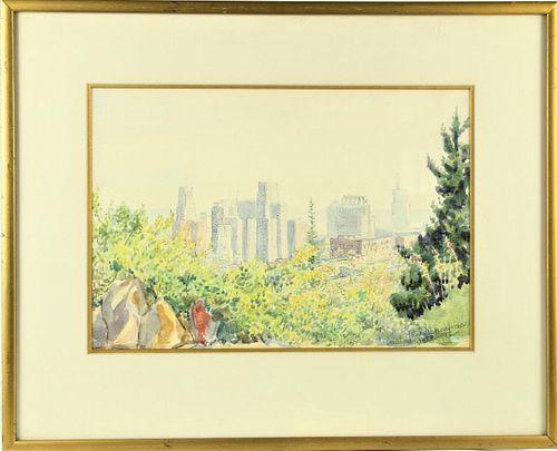 Jan Schaafsma  (1885 - 1980) American, Watercolor
