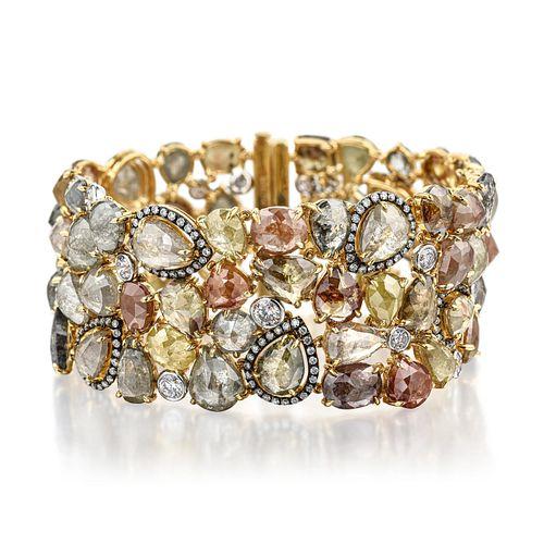 Multi-Colored Diamond Bracelet