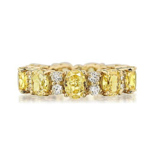 Fancy Vivid Yellow Diamond Eternity Band