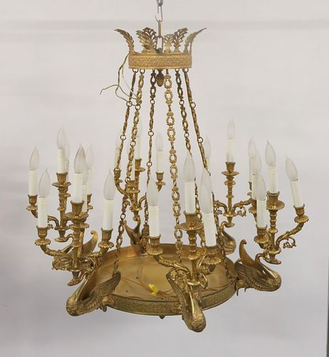 Large And Impressive Empire Style Gilt Bronze