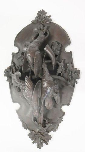 Large Highly Carved Figural German Black