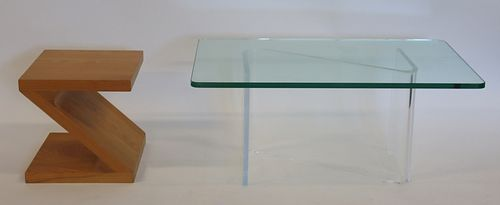 Midcentury Lucite Coffee Table Together With A Z