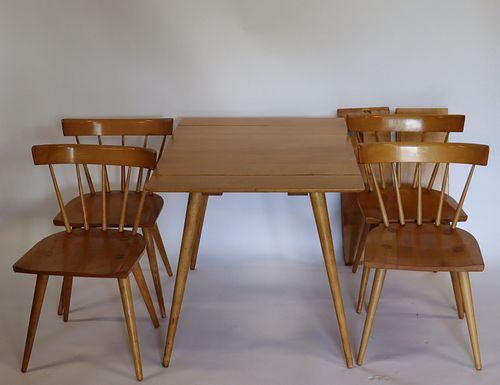 Midcentury Paul Mc Cobb Table And 4 Chairs.