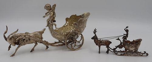 SILVER. (2) Continental Silver Decorative Chariots
