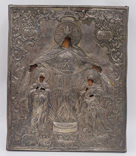 Russian Icon with Silver? Riza.