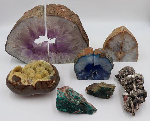 Assorted Crystal Specimens Including Amethyst.