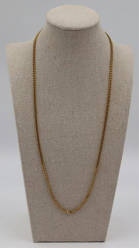 JEWELRY. Men's Signed Italian 18kt Chain Necklace.