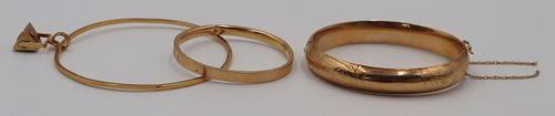 JEWELRY. (3) 18kt and 14kt Gold Bracelets.