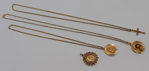 JEWELRY. 18kt and 14kt Gold Jewelry Grouping.