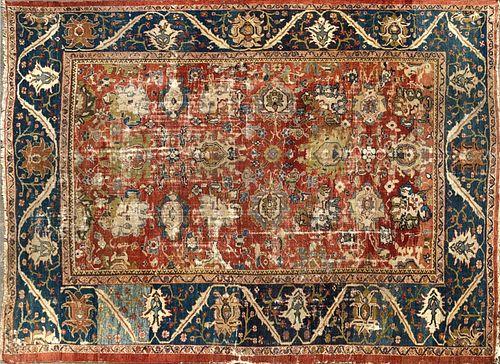 Sultanabad Hand Woven Carpet, circa 1890