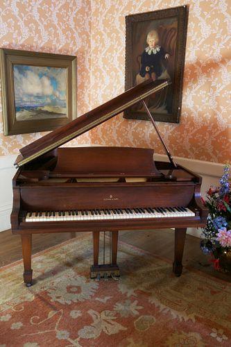 Steinway & Sons, New York Mahogany Baby Grand Piano, circa 1940