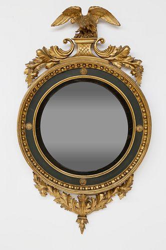Regency Carved and Gilt Convex Mirror, circa 1820
