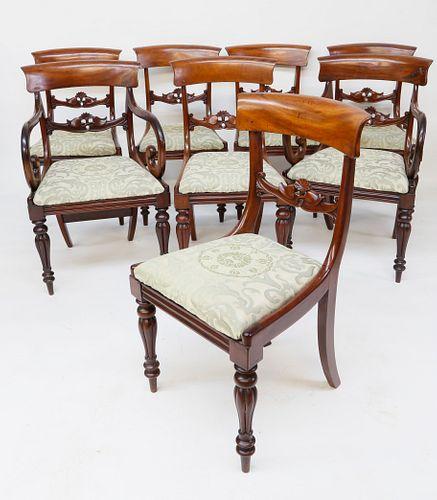 Set of Eight English Mahogany Dining Chairs, circa 1840