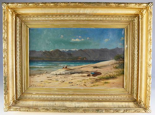 "Nikolay Tysland Legangen Oil on Canvas ""Sirmione, Lake Garda, Italy"""