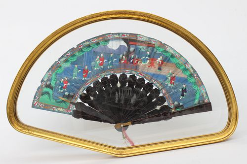Chinese Export Hand Fan, circa 1840