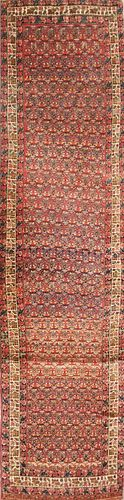 Antique Persian Hand Knotted Oriental Carpet Runner