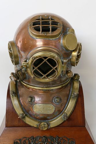 Schrader's Son United States Navy Mark V Diving Helmet, circa 1942