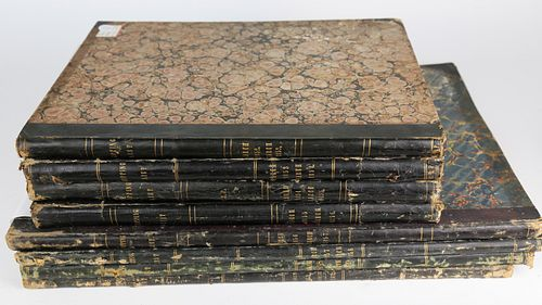 """Group of 8 Bound Volumes of """"Whalemen's Shipping List and Merchant's Transcript"""""""