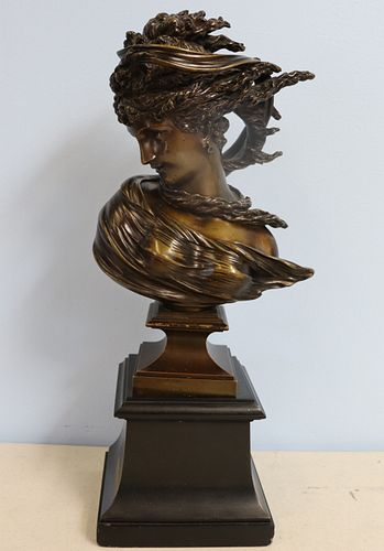 A. D. Saibas Signed And Dated 1870 Bronze