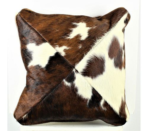 South Western Cow Hide Pillow