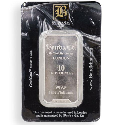 10oz Baird & Co. Platinum Bar .999 Fine