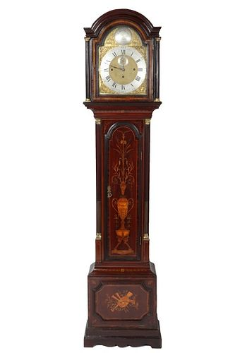 Georgian Manner Neoclassical Tall Case Clock