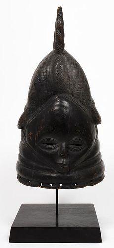 African Mende or Sherbro Helmet Mask, Sierra Leone