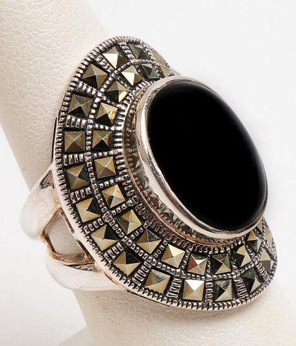 Onyx /& Hematite Ring