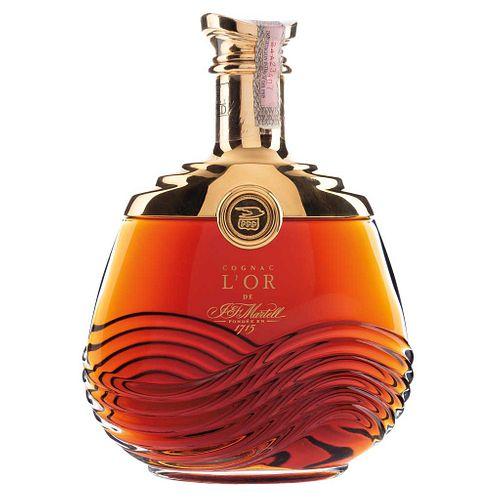 Martell. L'or. Cognac. France. Licorera con baño de oro de 24 kilates. En estuche.
