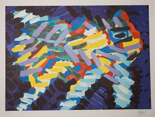 20th Century Karel Appel Signed Lithograph