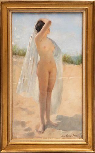 Late 19th Century Pierre Carrier Apres la bain Watercolor and Pastel