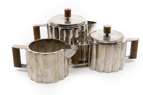 20th Century ILONKA KARASZ, PAYE & BAKER SILVER-PLATED TEA SERVICE