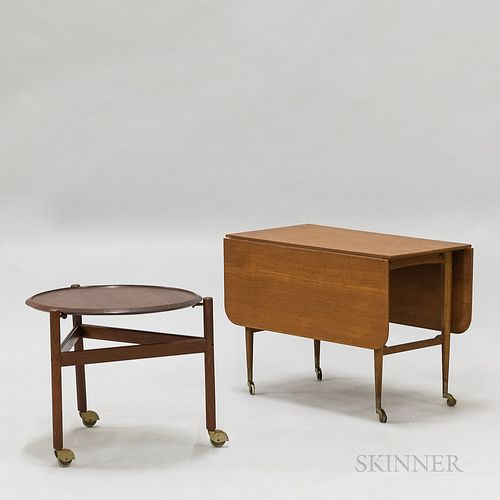 Two Small Mid-century Modern Teak Tables