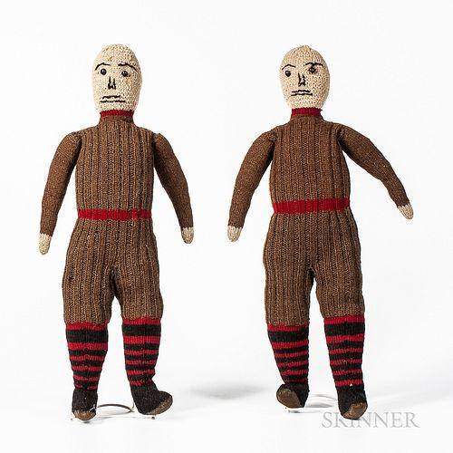 Pair of Knit Dolls