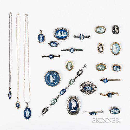 Twenty-four Wedgwood Jewelry Items