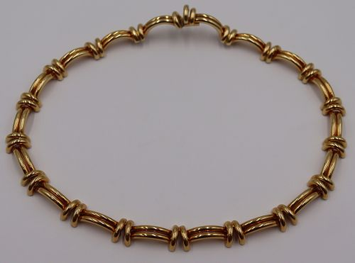 JEWELRY. Italian 18kt Gold Statement Necklace.
