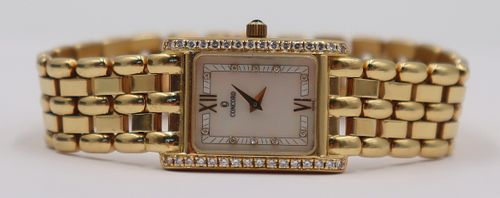 JEWELRY. Concord 18kt Gold and Diamond Watch.
