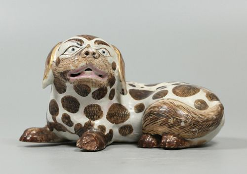 Chinese export porcelain dog, possibly 18th c.