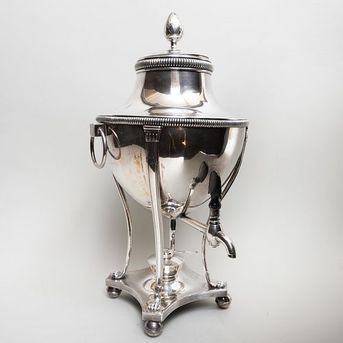 Silver Plate Large Urn