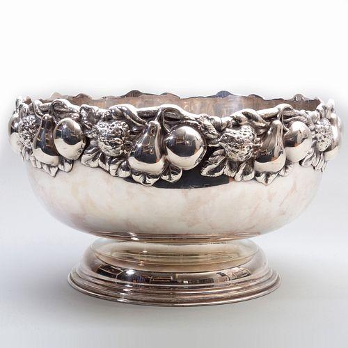 Topazio Portuguese Silver Plate Punch Bowl