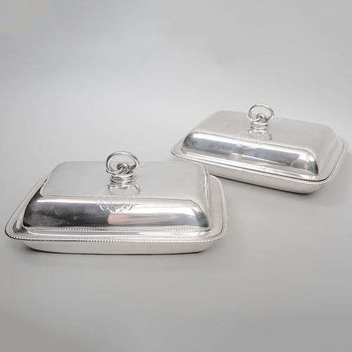 Pair of George III Paul Storr Silver Covered Entrée Dishes