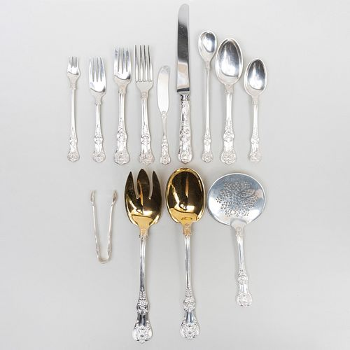 Tiffany & Co. Silver Flatware Service, in the 'English King' Pattern