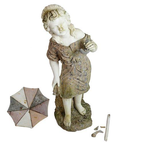 Life Size Art Nouveau Marble Sculpture