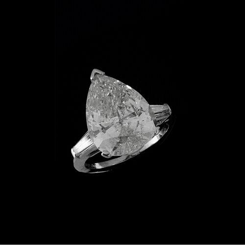EGL Diamond and Platinum Ring