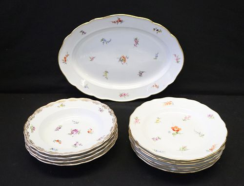 Grouping of Meissen Porcelain.